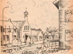 tekening Chr. geref kerk 1973