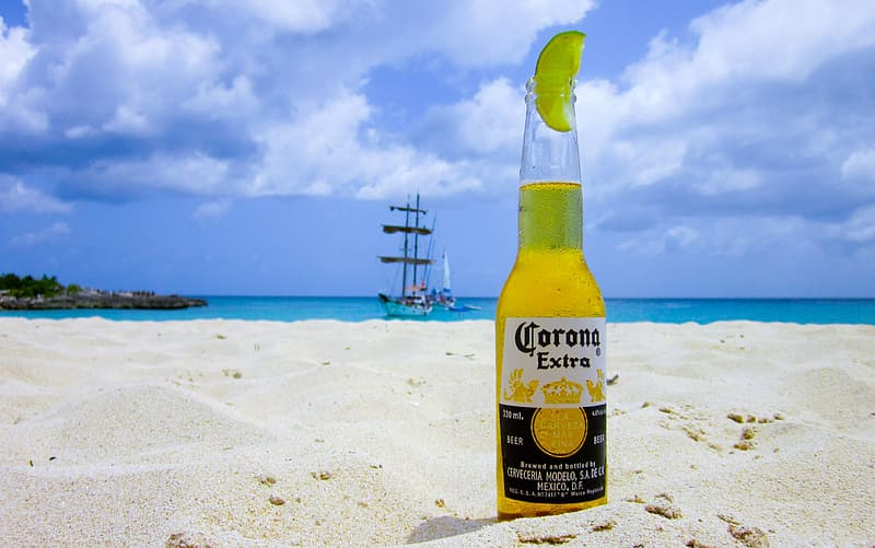 corona-beer-on-the-beach